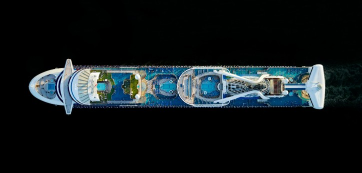 Aerial photographs of Cruise Ships by Jeffrey Milstein