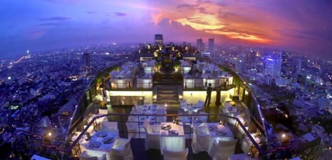 05 Rooftop restaurant «Bayan Tree Hotel», Bangkok