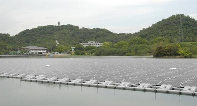 Kyocera the world's largest floating solar power plant on the water