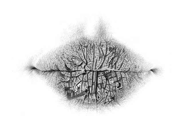 Surreal-Pencil-Drawings of Lips by Christo-Dagorov-02