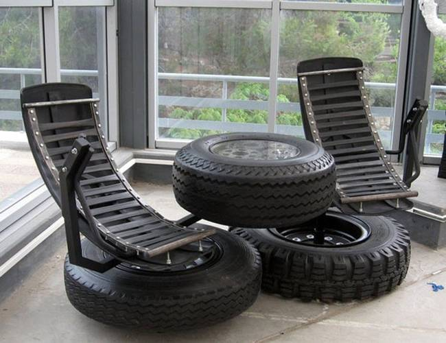 Alternative and Creative use of used tires