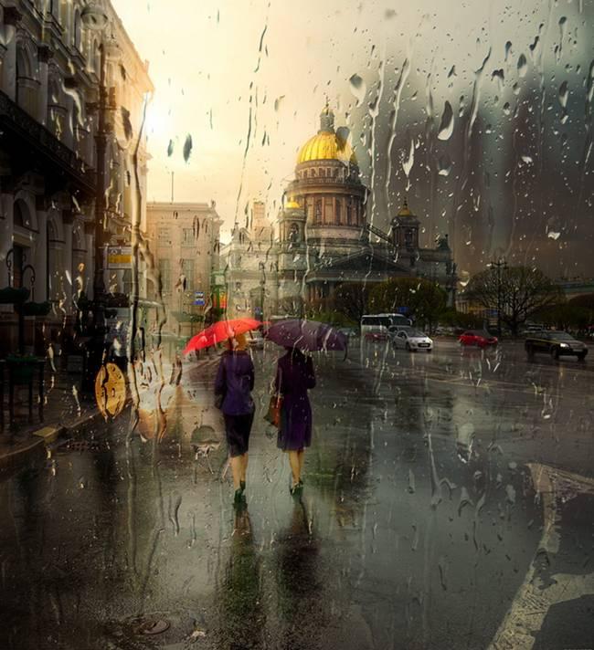 Ed Gordeev and Rainy Cityscapes