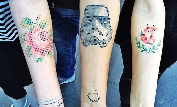 Embroidered Tattoos By Eva Krbdk