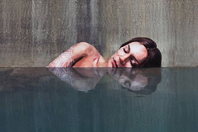 Sean Yoro, murals on water