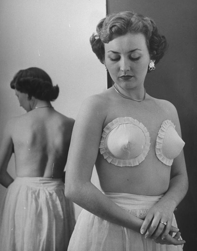 The adhesive bra — 1949