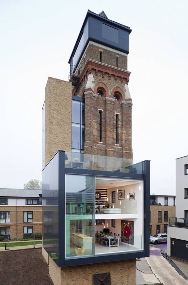 A Water Tower Converted Into A Modern House