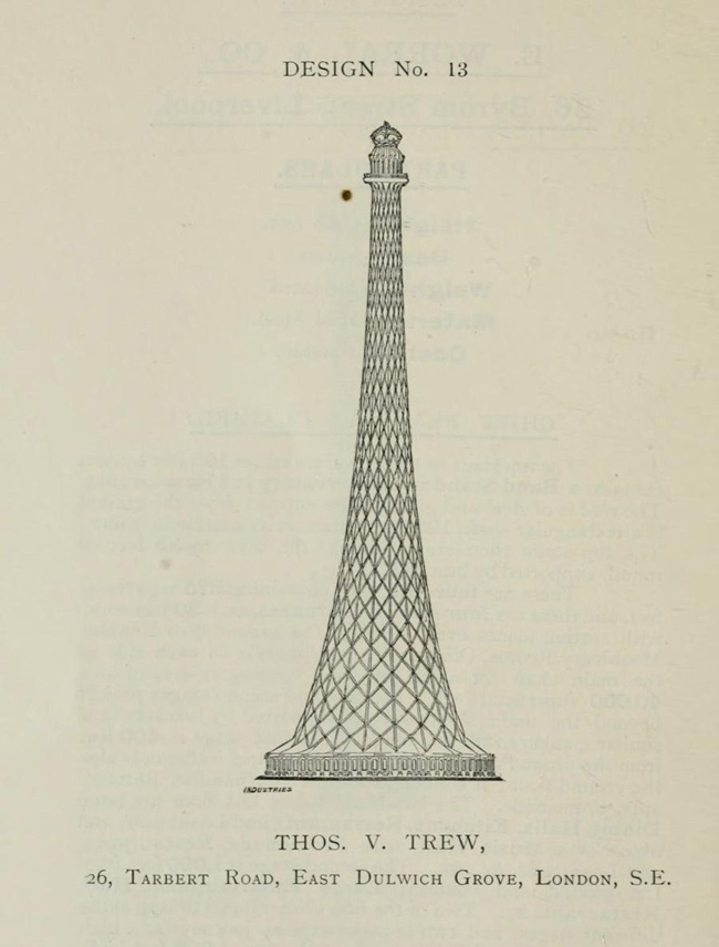 Competitive Designs for the great tower for London in 1890