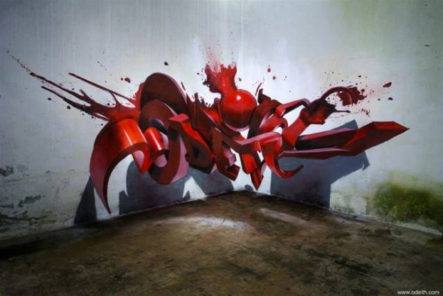 Graffiti, which break the laws of physics