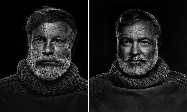 15 Celebrity Portraits carefully recreated by John Malkovich