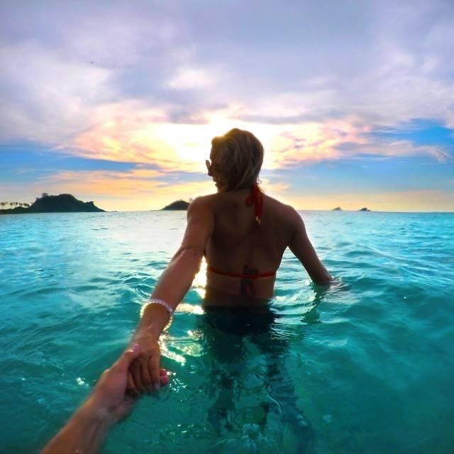 Laura Reid Leading Her Boyfriend Christian LeBlanc Around The World