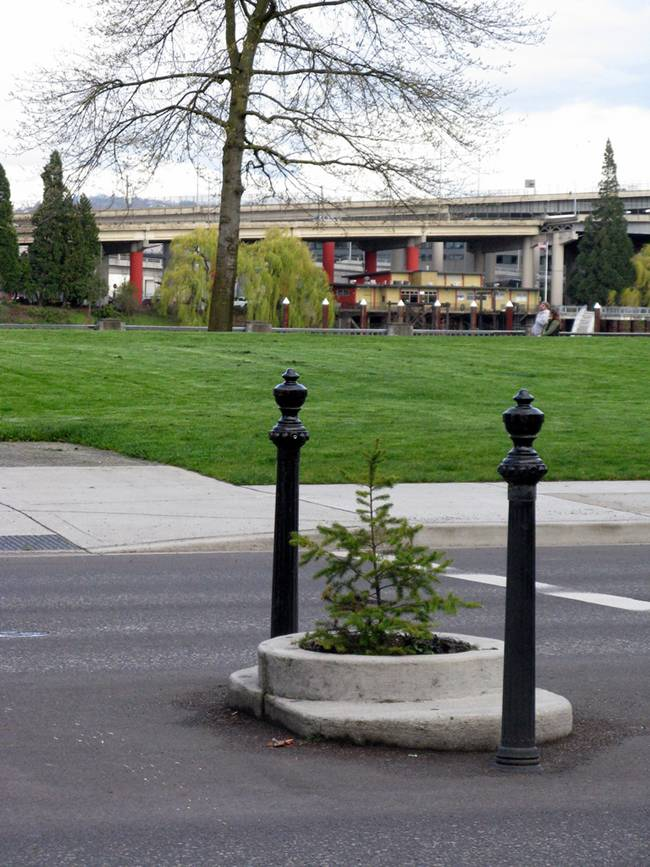 World's smallest city park, Mill Ends Park of Portland
