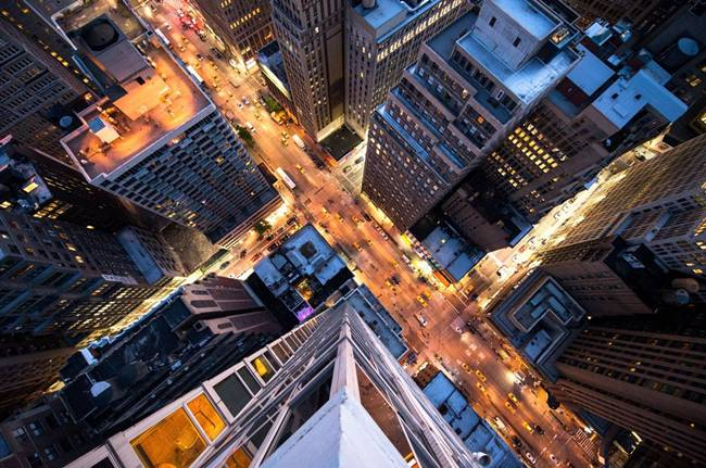 New York City from the heights of skyscrapers, Navid Baraty