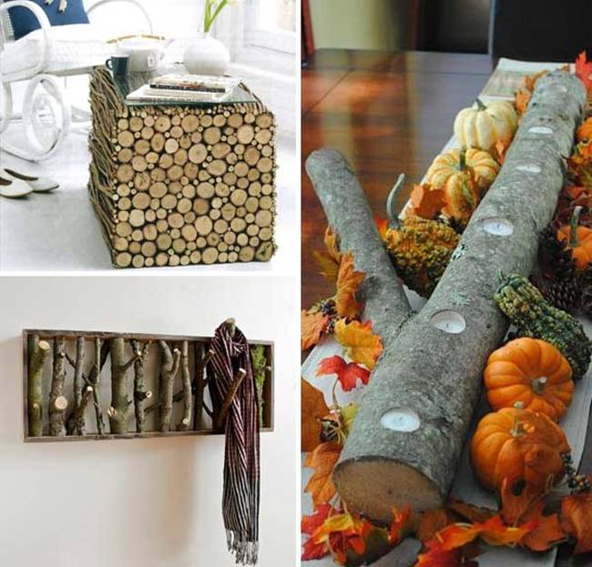 20 ideas for recycling tree trunks and decorate your home with them.