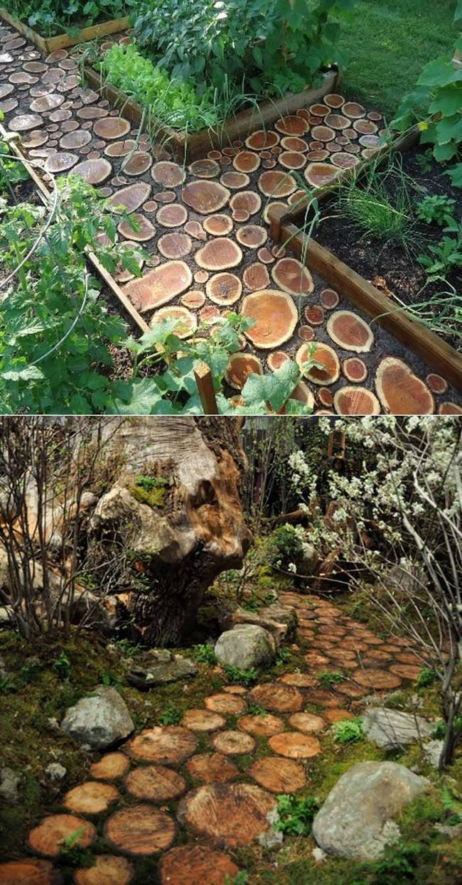 20 ideas for recycling tree trunks and decorate your home – Gudsol