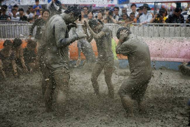 The annual festival of mud in South Korea