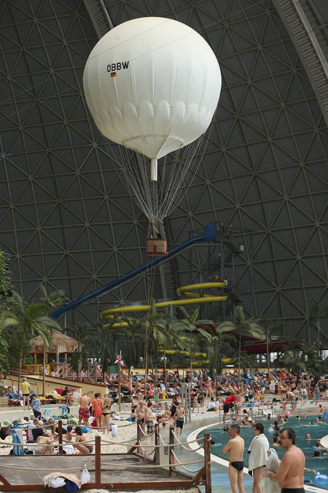 The Huge Aircaft Hanger Turn Into Tropical Island Resort In Germany