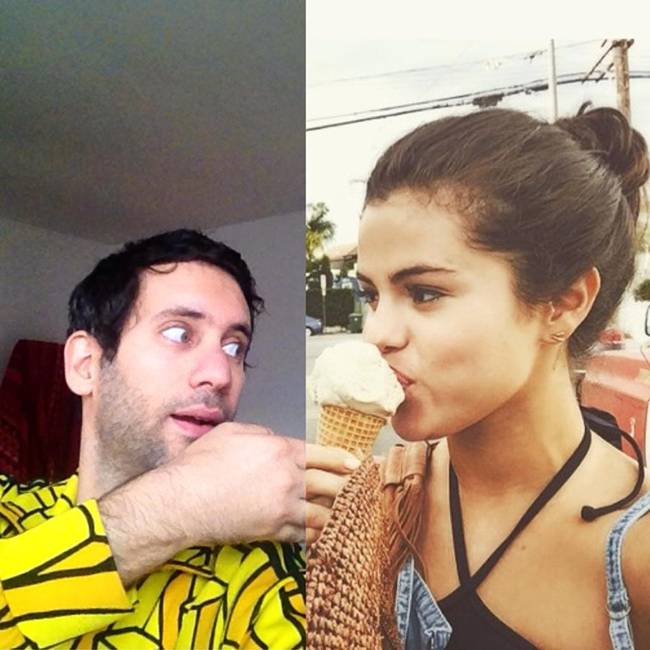"""Artist Jon Burgerman has created a project called """"Famous Friends"""""""