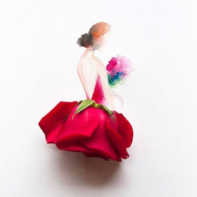 "The artist Lim Ji Wei ""Limzy"" — Watercolor and Flowers"