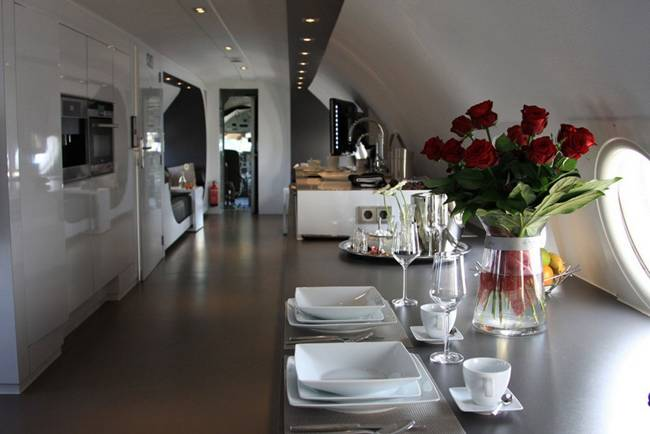 Luxury hotel in old Airplain Ilyushin 18
