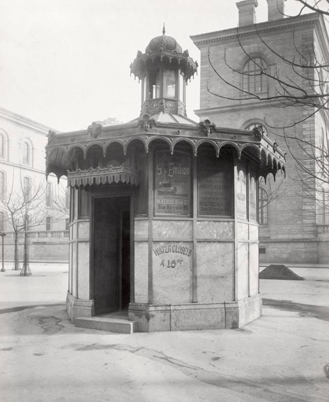 Public urinals on the street of Paris in 1865