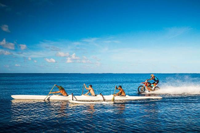 Robbie Maddison Runs Motorcycle on Sea waves Pipe Dream