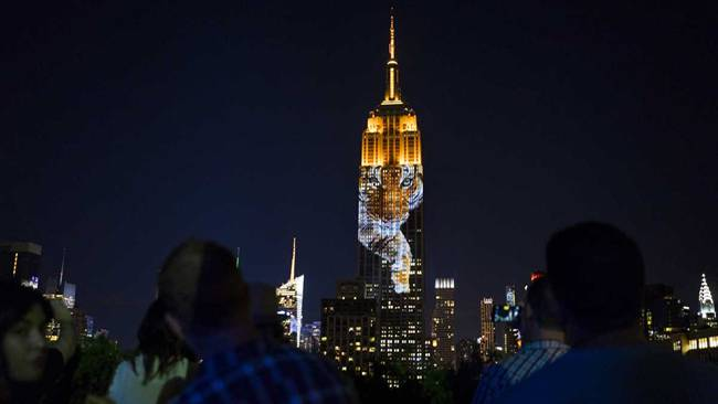 The grand show on the walls of Empire State Building — Leo Cecil and endangered animals