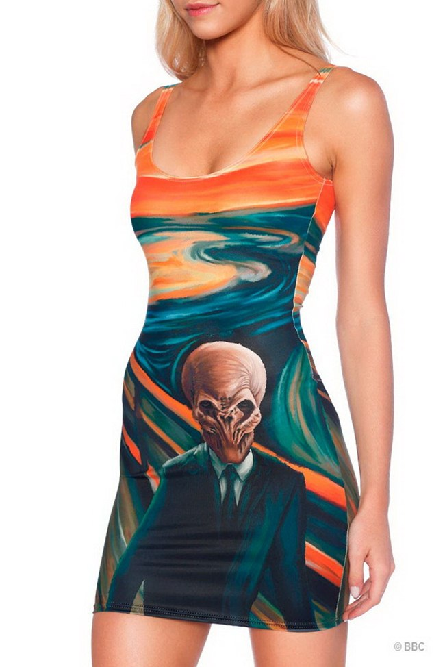 "Black Milk Australian company, Incredible gift for the female fans of the series ""Doctor Who""."