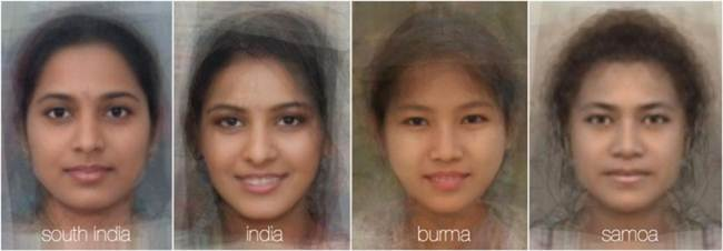 Femal Faces around the world