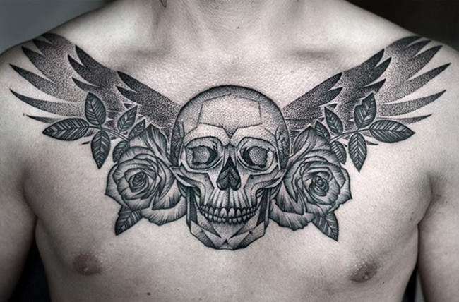 Sensational Black and White Tattoo By Kamil Czapiga