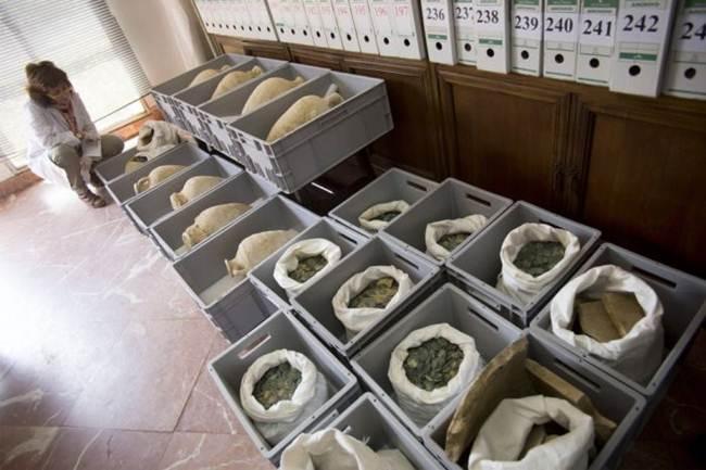 600 Kilos Roman coins found in Spain