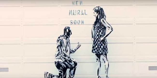 Most Artistic Proposals can see this Marriage Proposal Realized in a Wall