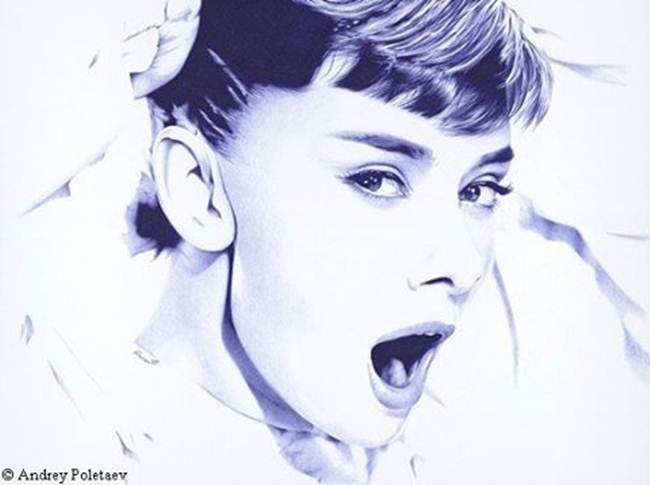Artist of Ukraine creates a stunning picture of an ordinary ballpoint pen