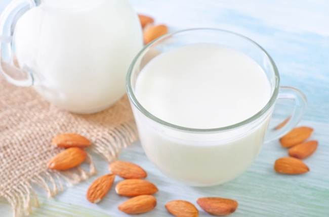 Soy and almond milk