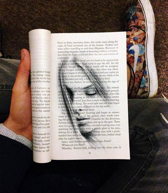 Artist Bav Singh and His Text Book