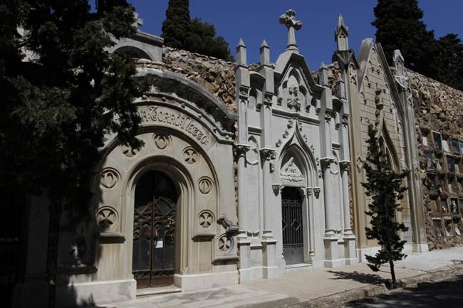 Montjuïc Cemetery, on the hill of Barcelona