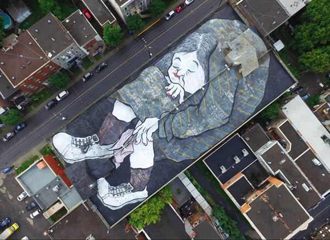 Roof Top Art by Ella & Pitr in Montreal, Canada