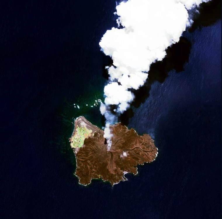Aerial view of Nishinoshima Island