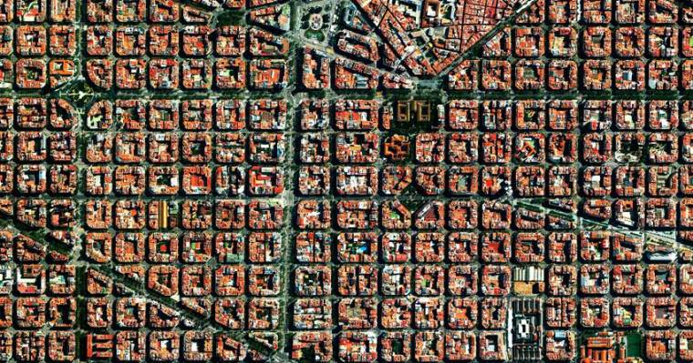 Aerial view of Eixample or New Town.