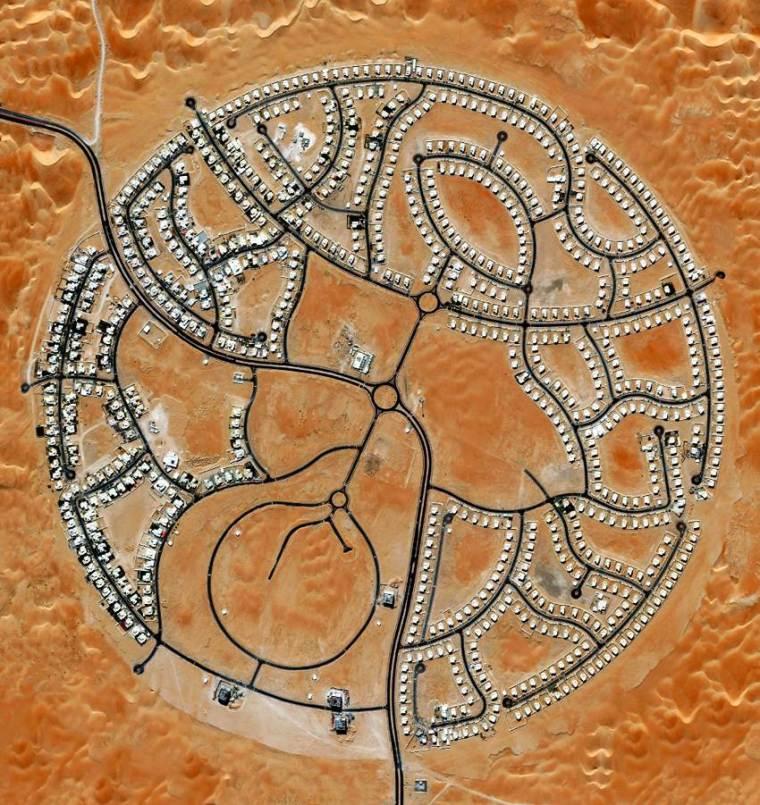 Aerial view of Villas in Abu Dhabi.
