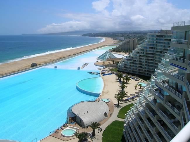 """The hotel """"San Alfonso del Mar"""", Chile."""