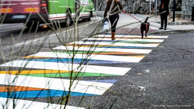Bulgarian artist Christo Güell and pedestrian crossings