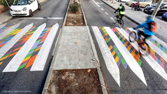 Bulgarian artist Christo Güell and pedestrian crossings