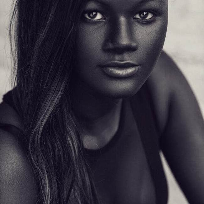 Hoodia Diop - The dark-skinned model in the world
