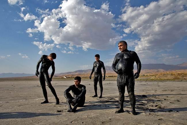 Pink Salt Lake Urmia in Iran
