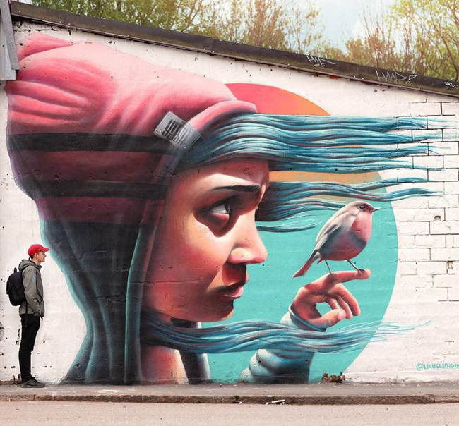 Street artist Yash Stockholm