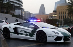 Police cars in Dubai