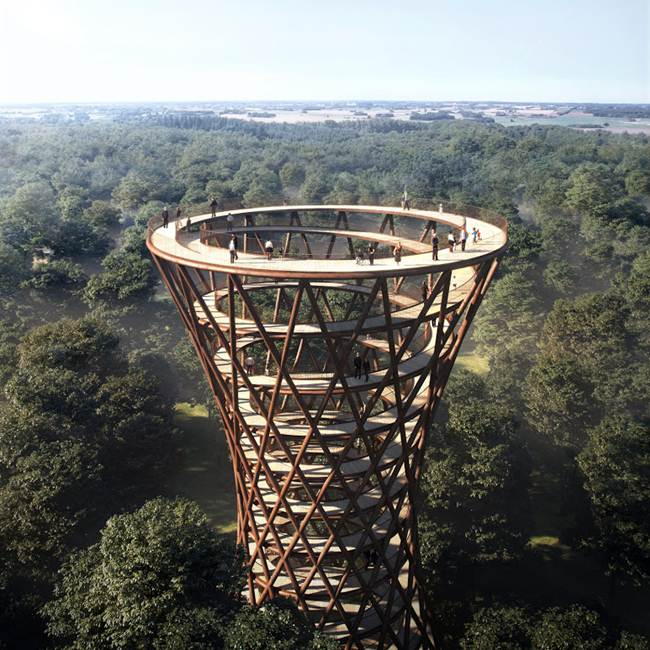 Treetop Experience — A unique viewing platform in the forests of Denmark