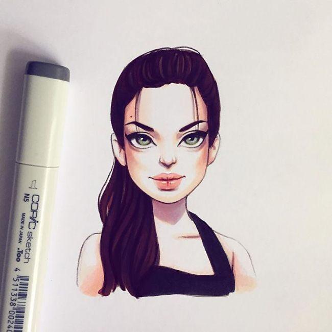 Lera-Kiryakova-Celebrity-illustrations-Art-017