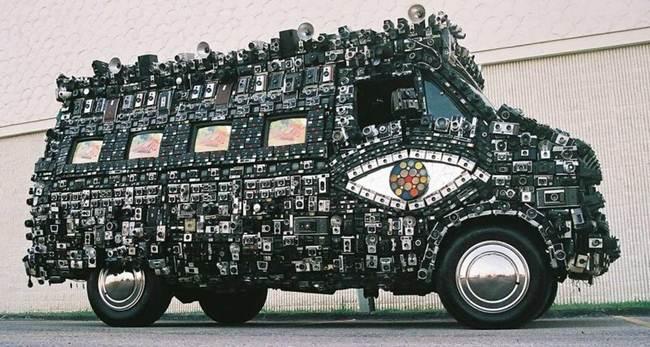 Harrod Blank's Van covered with Camera