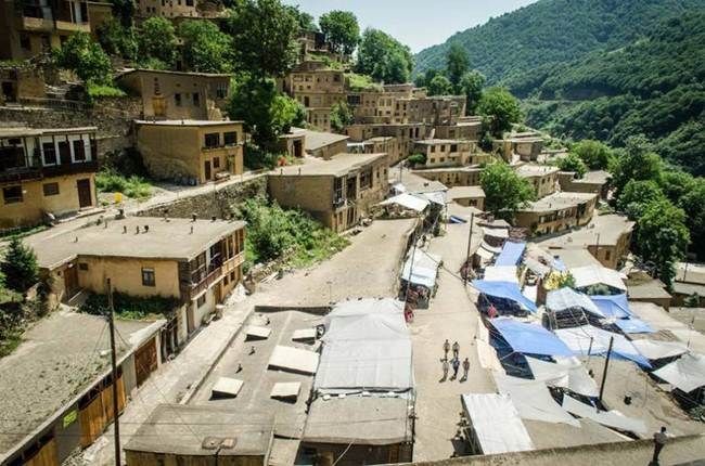 The Roofs and Roads are Become One in th Historic Village of of Masuleh, Iran
